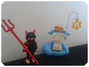 kiezen: engel en duivel