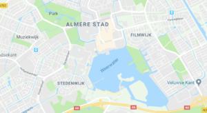 Ligging van het Weerwater in Almere
