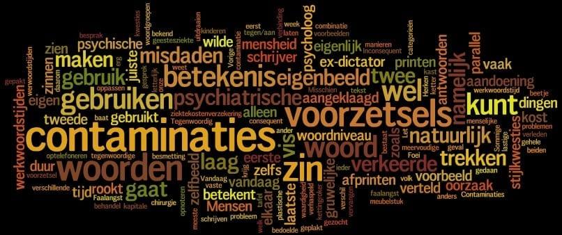 Stijlkwesties: contaminaties, voorzetsels en betekenis