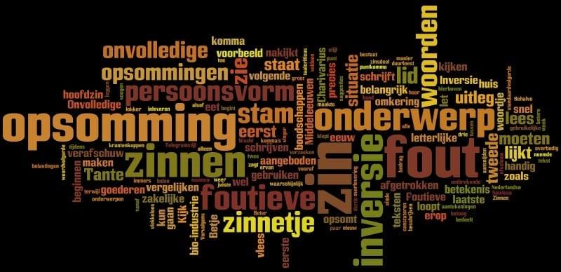 Stijlkwesties: foutieve opsommingen, foutieve inversie en onvolledige zinnen