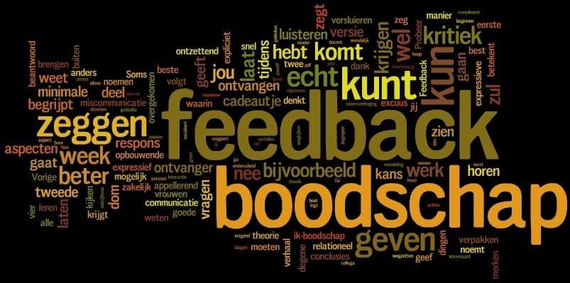 boodschap, feedback