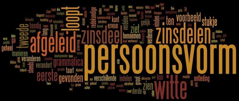 Grammatica: de persoonsvorm