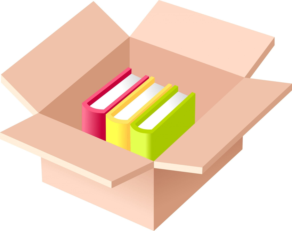 Verhuizen: boeken in dozen