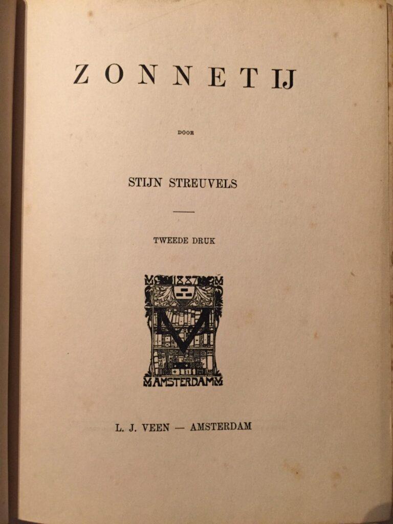 Titelblad Zonnetij van Stijn Streuvels: een van mijn oude boeken