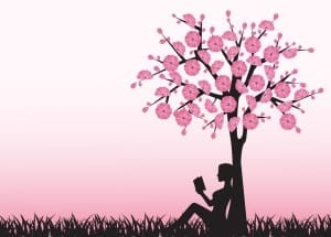 lezen onder een boom