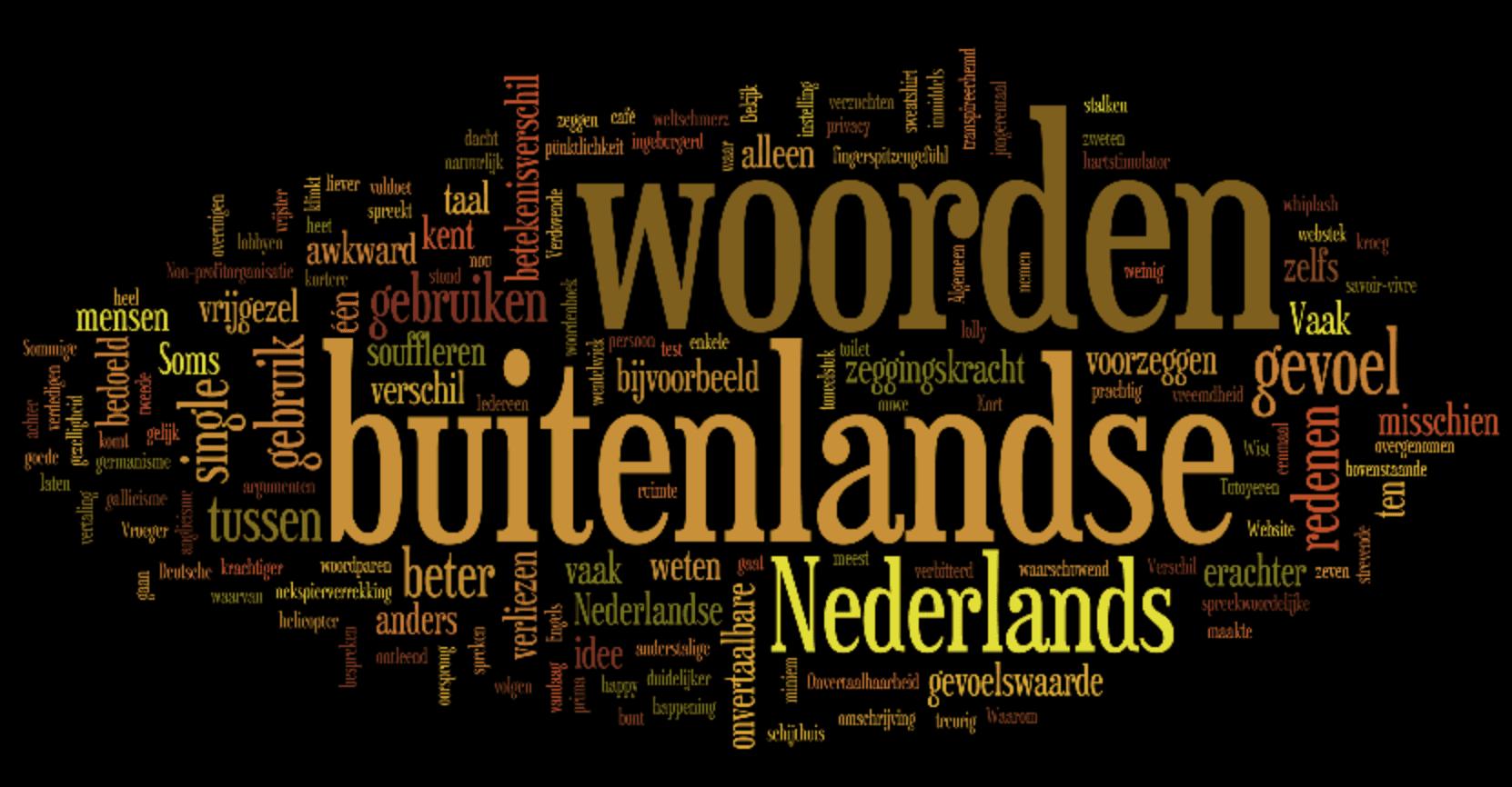 Gebruik van buitenlandse woorden is awkward?