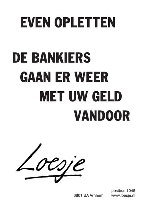 Een ton bankiers