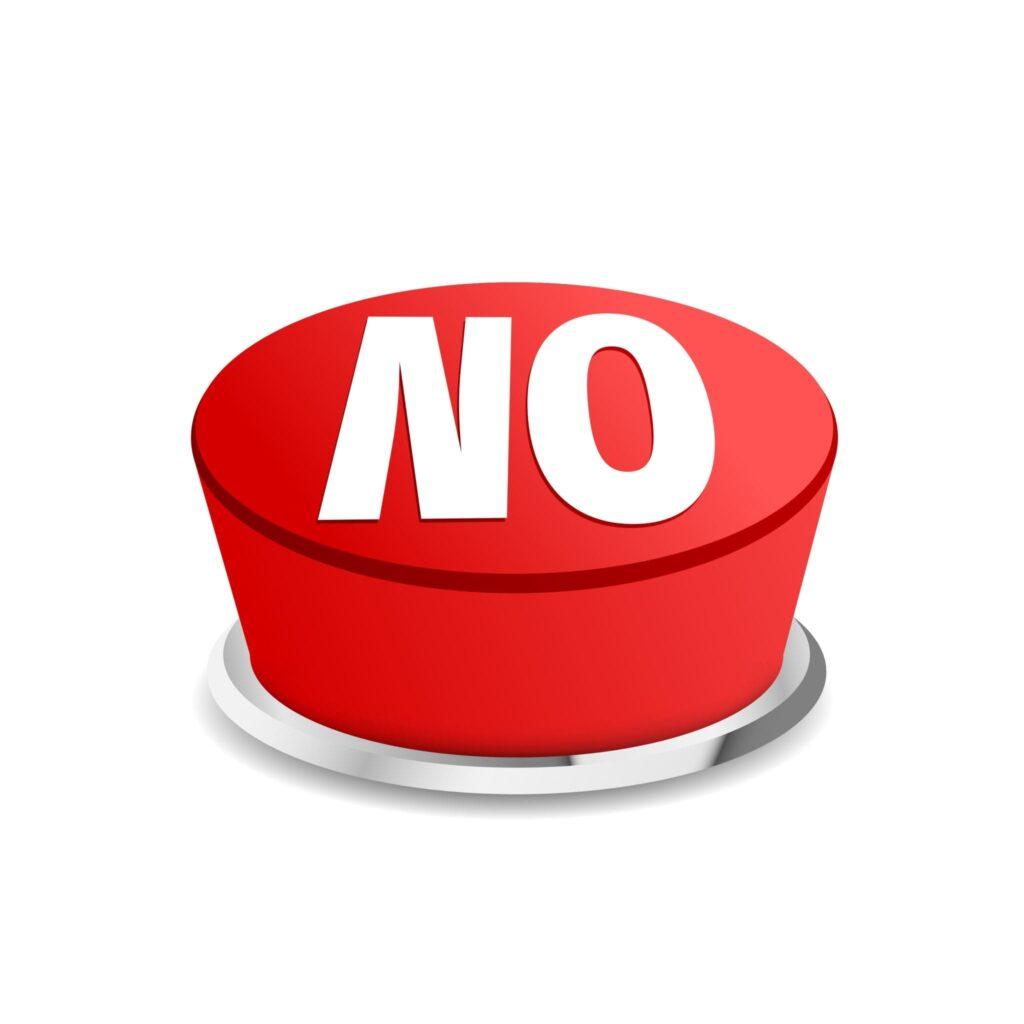 Kom maar op: nee zeggen
