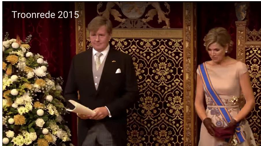 Still uit de troonrede 2015