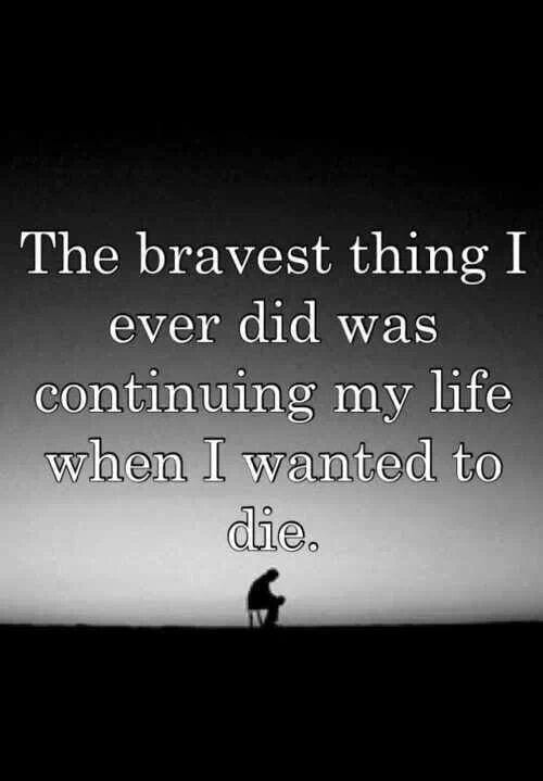 Hoe ga jij om met een taboe? The bravest thing I ever did was continuing to live when I wanted to die