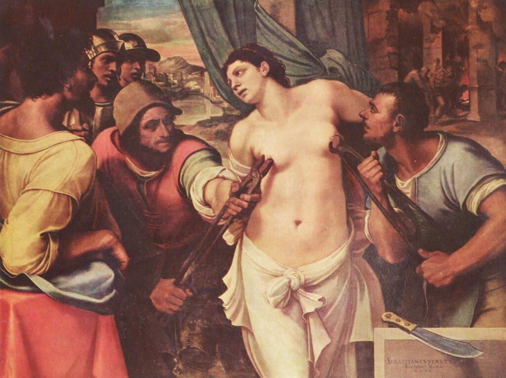 Agatha beschermheilige van brood en bakker