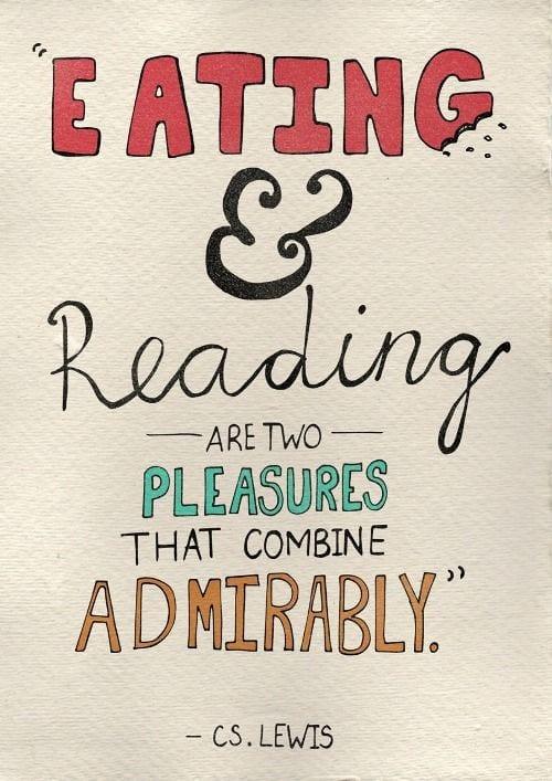 Eten en lezen gaat prima samen