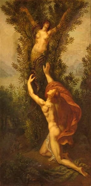 Apollo en Daphne die een laurierboom wordt