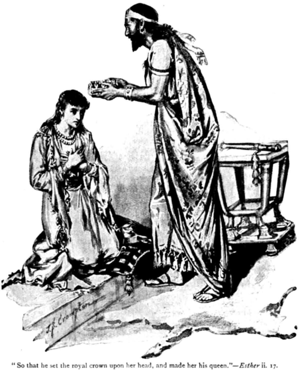 Ester gekroond tot koningin, maar daarna in zak en as