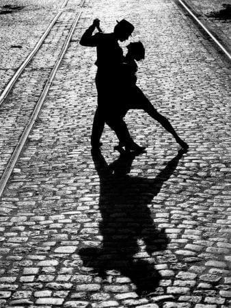 De tango dansen