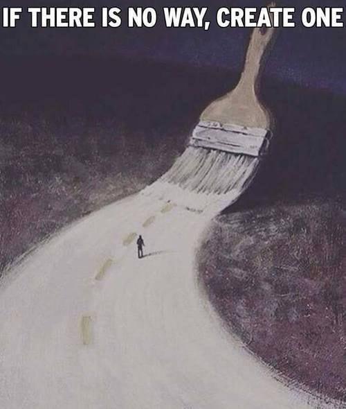 De weg die neemt, moet je soms zelf maken