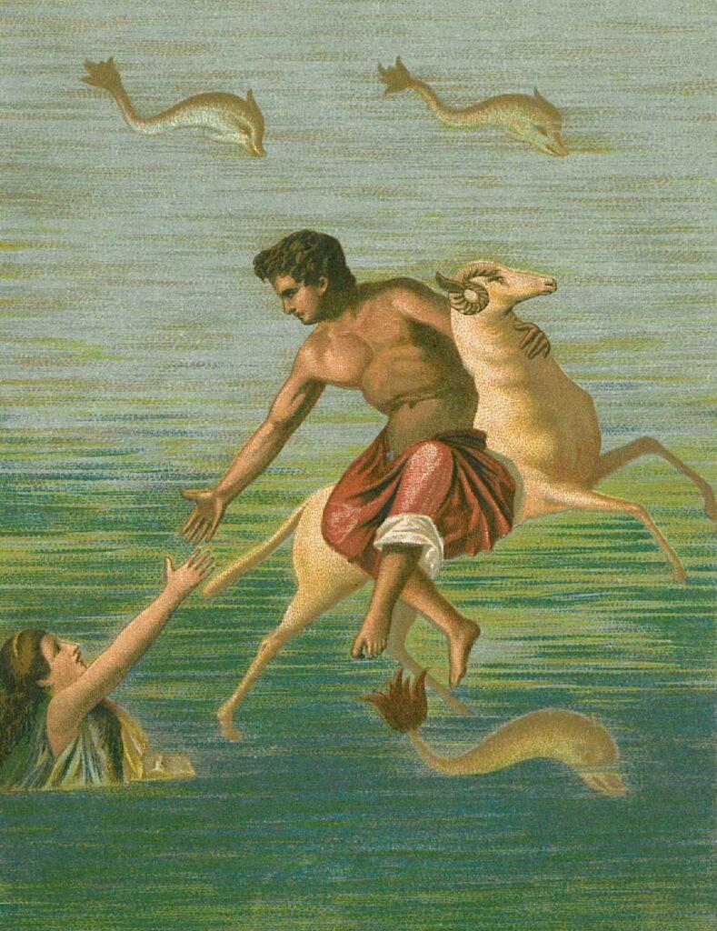 De mythe van Phrixos en Helle