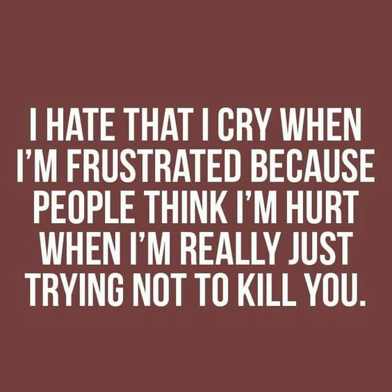 frustratie: ik haat het dat ik huil als ik gefrustreerd ben