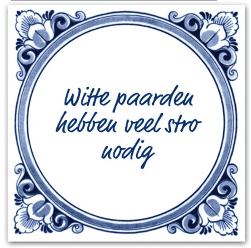 Spreekwoord 17: stro