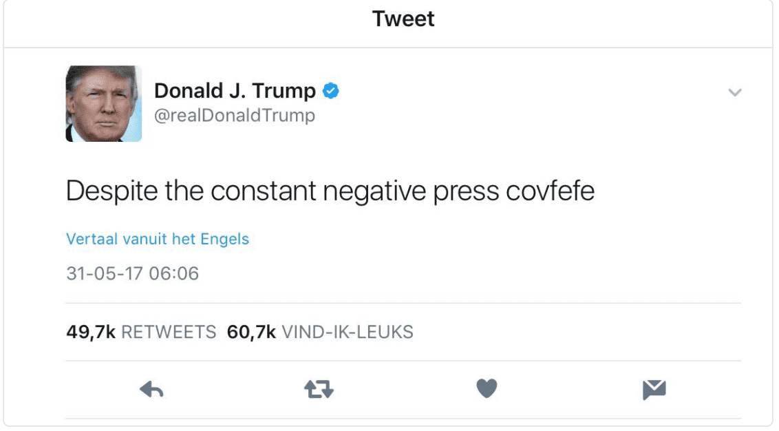 Trump tweet covfefe