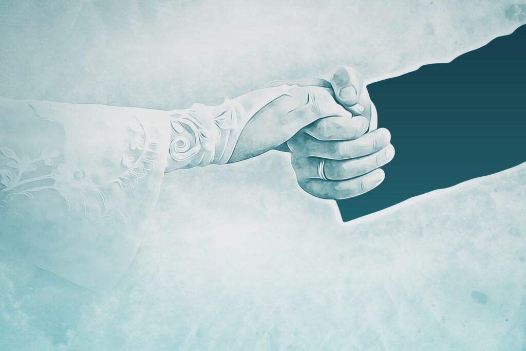 Spreekwoord 46: met de handschoen trouwen