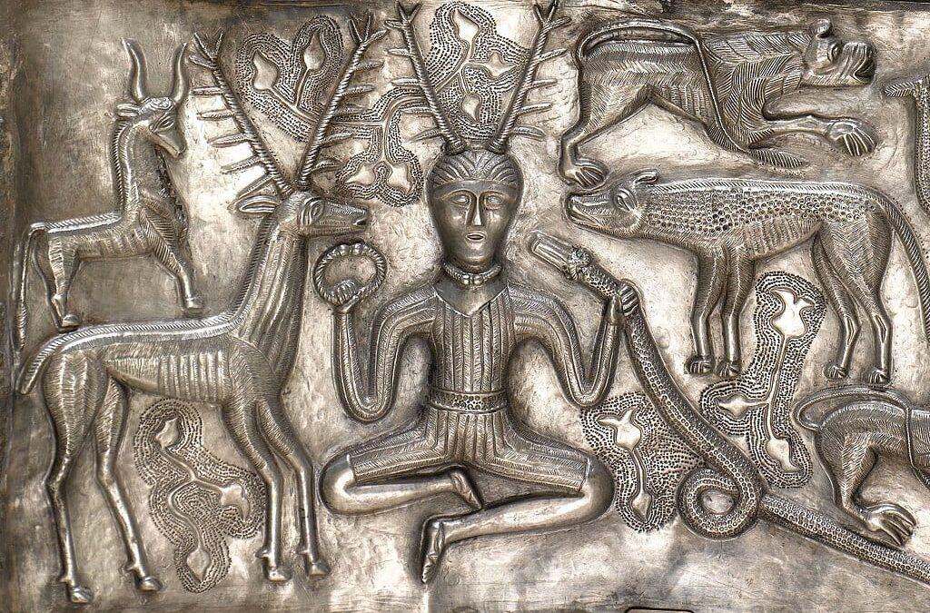 Een van de keltische goden: Cernunnos
