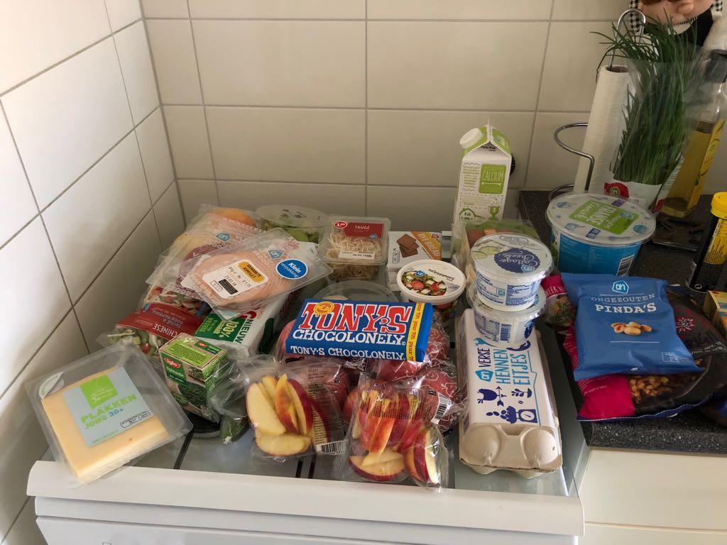 Resultaat van een rondje supermarkt