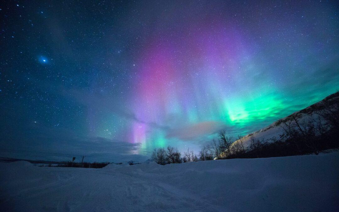 boreaal, de aurora borealis betekent noorderlicht