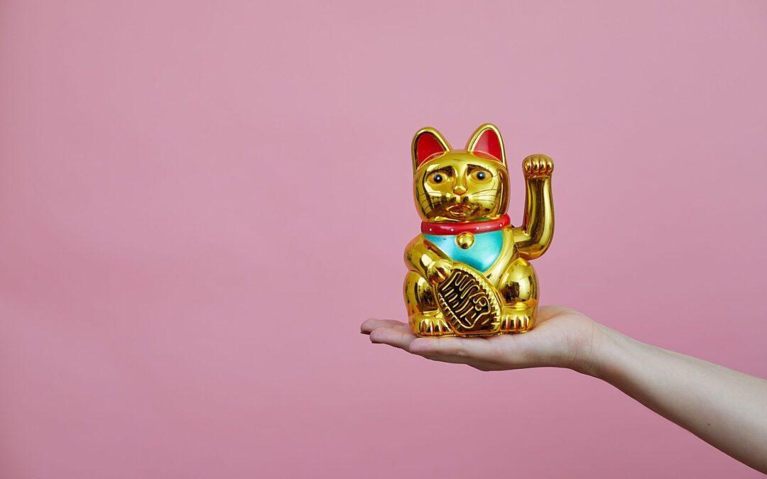 Maneki-neko een katje voor geluk
